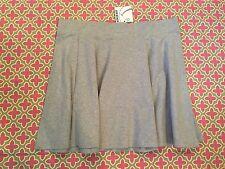 Very Cute Flowy Gray Knit Skirt Women's Jr xl