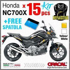 15x Kit NC700X HONDA 11-15 White/Yellow ADESIVI STICKERS PEGATINA AUTOCOLLANT