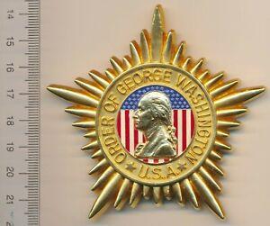 USA UNITED STATES Star Breast BADGE Military Medal ORDER of GEORGE WASHINGTON