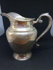 """Vintage Preisner Sterling Silver Large Water Pitcher Pot Carafe 9"""" Tall Estate"""