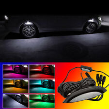 4x White LED Car Wheel-Well Decoration Lamp Fender Lamp Strobe Breathing 3 Mode