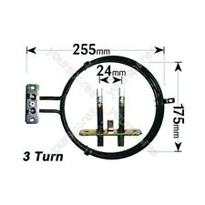 Ufixt Zanussi Replacement Fan Oven Cooker Heating Element (2500w) (3 Turns)