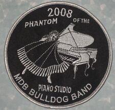 "MDB Bulldog Band Patch - 2008 Phantom of the Piano Studio 5"" x 5"" Mount Dora, FL"