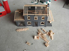 Vintage Ho Scale Plasticville Construction House Building Look