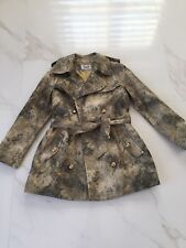 DOLCE & GABBANA Belted Military TRENCH COAT Jacket size 42