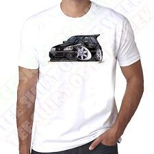 WickedArtz Cartoon Black Nissan Sunny GTi-R Car Mens 100% Cotton White T-Shirt