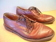 Giorgio Brutini Brown Perforated Retro Shoes Swing Rockabilly BigBand TeddyBoy 9