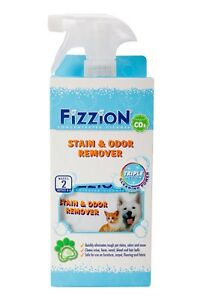 Fizzion Pet Stain & Odor Remover Cleaner 2 Tab & Spray Bottle Makes 2 Bottles