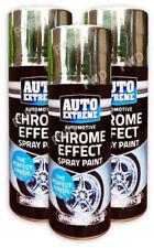 3 Automotive Chrome Effect Spray Paint Aerosol Cars Wood Metal Walls Graffiti