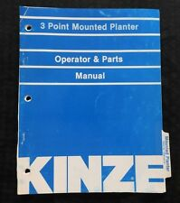"KINZE 30 36 38 40"" 3-POINT MOUNTED PLANTER OPERATOR & PARTS CATALOG MANUAL NICE"