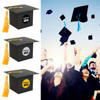 48pcs Graduation Gift Boxes Graduation Candy Box Black Grad Cap Box Party Favor