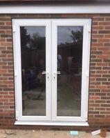 White uPVC French Doors / Back Doors / Patio Doors / Made to Measure (#111)
