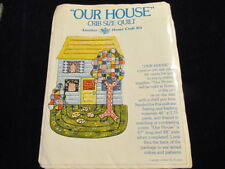 "Our House Crib or Wall Quilt Kit w/ Pre-Cut Fabric 57x38"" when sewn Sn"