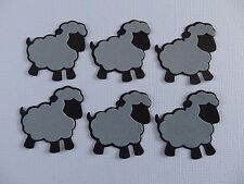 Sheep Die Cuts in Sets of 6 - Black & Grey Combo