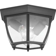 New Haven 2-Light Black Outdoor Flushmount by  Progress Lighting