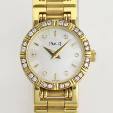 Piaget Dancer Redondo Cuarzo con diamantes en oro Amarillo de 18K. con Caja