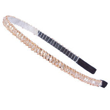Fashion Bead Crystal Head Headband Head Piece Hair Band For Women Girls Khaki