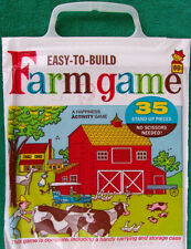 Rare Vintage Unused NOS 1968 Easy To Build Farm Game 35 Pieces In Carrying Case
