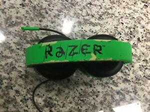 Lot Of 2 Razer Kraken Wired Stereo Gaming Headset Green PS4 Xbox PC Switch