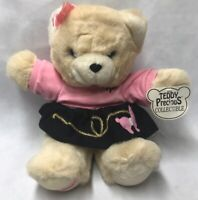 "16"" Vtg Teddy Precious DAN DEE Girl Pink Poodle Bear Stuffed Animal Toy Plush"