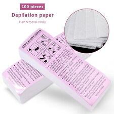 100 Sheets Hair Removal Depilatory Nonwoven Epilator Wax Waxing Strip Paper