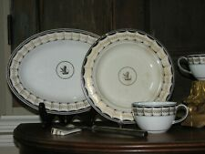 Wedgwood Armorial 18th Century Plate & Cup(2) & Oval Platter & Knife Rest Museum