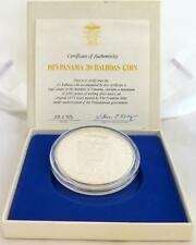 1975 Panama Silver proof 20 Balboas coin with Certificate and Case