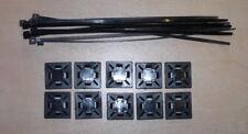 Klebesockel mit Kabelbinder Kabelhalter Schlauchhalter Schelle 10 Stück