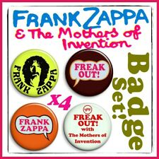 """5 x Frank Zappa 1/"""" Pin Button Badges Freak Out! Absolutely Free Lumpy Gravy"""