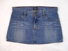 Von Dutch Juniors Pencil Denim Mini Skirt Distressed Sz Medium Blue Jean CB23F
