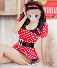 Adult Women Minnie Mouse Costume Party Clubwear Skirt Outfit Polka Dress Cosplay