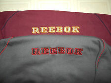 REEBOK LG. 2XL SWEATSHIRT~ELBOW PATCHES~2 POCKETS~GREY OR WINE~HEAVY