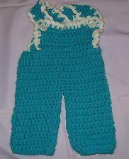 Crocheted Baby Doll Bib-overalls