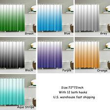 Gradual Color Shower Curtain Waterproof Bathroom Decor Shower Curtain Set72×72in