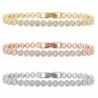 Kupfer Tennis Armband 36 stück Runde Zirkonia Armreif Damen Modeschmuck Geschenk
