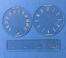 1947 Mercury and 1948 Mercury Speedometer, Gauge and Clock glass set