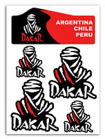 Set 5 PVC Vinyle Autocollants Dakar Rallye Racing GP Stickers Voiture Moto Auto