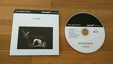 Joy Division Closer The Times UK Promo CD UPJOYD001 Alternative Indie Rock