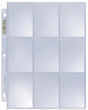 1 Case of 1000 Ultra Pro Platinum 9 Pocket Pages Card Storage Sheets Holders