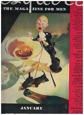Esquire Magazine January 1934 2nd Issue ERNEST HEMINGWAY Jack Dempsey