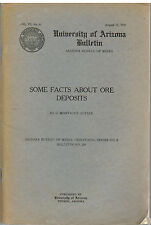 Some Facts About Ore Deposits by Montague Butler 1935 University of Arizona