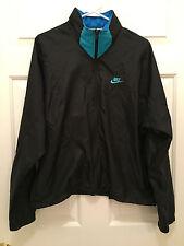 VTG 1990s Nike Men's Black Neon Track Suit Hooded Jacket Pants Medium