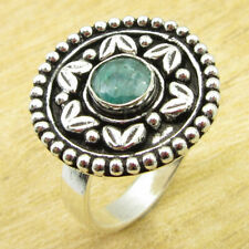 Gemstone Art Ring Size 9.75 New Simulated Emerald 925 Silver Plated Jewelry |