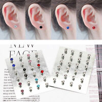 12Pairs Non Piercing Clip on Magnetic Magnet Ear Stud Men Women Fake Earring Set