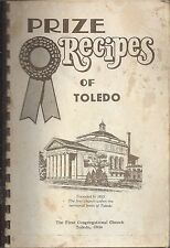 PRIZE RECIPES OF * TOLEDO OH VINTAGE CONGREGATIONAL CHURCH COOK BOOK * LOCAL ADS