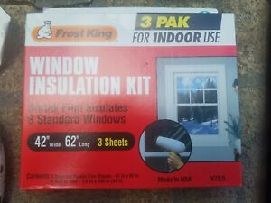 New Frost King V73/3H Shrink Window Insulation Kit Indoor, 42 x 62  3-Pack Clear