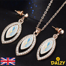 GOLD JEWELLERY SET EARRING AND NECKLACE SET CRYSTAL AND GOLD EARRING SET ELEGANT