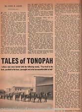 Tonopah, Nevada - Tales of Boom and Bust + Butler,Dayton,Grayson,Harris,Oddie