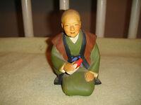 Vintage Urasaki Doll Figure Woman Holding Bottle Fukouka Japan Detailed