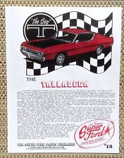 1969 FORD FAIRLANE NASCAR TORINO COBRA TALLADEGA CAR LITERATURE FACT SHEET 13